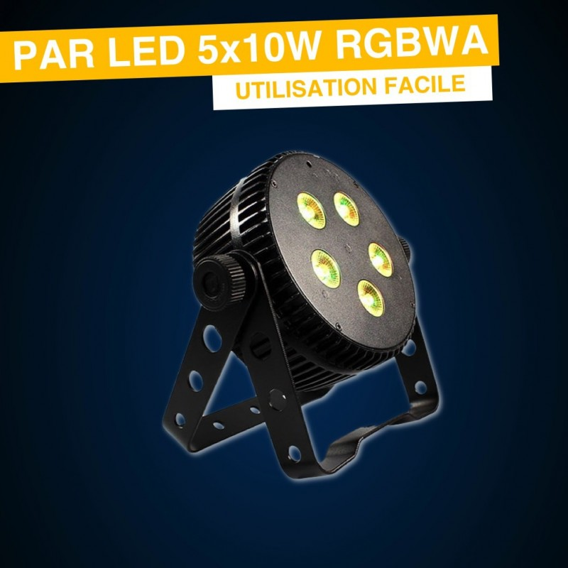 LOCATION PAR LED 5x10W RGBWA