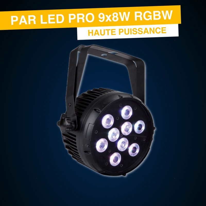LOCATION PAR LED 9x8W DNA