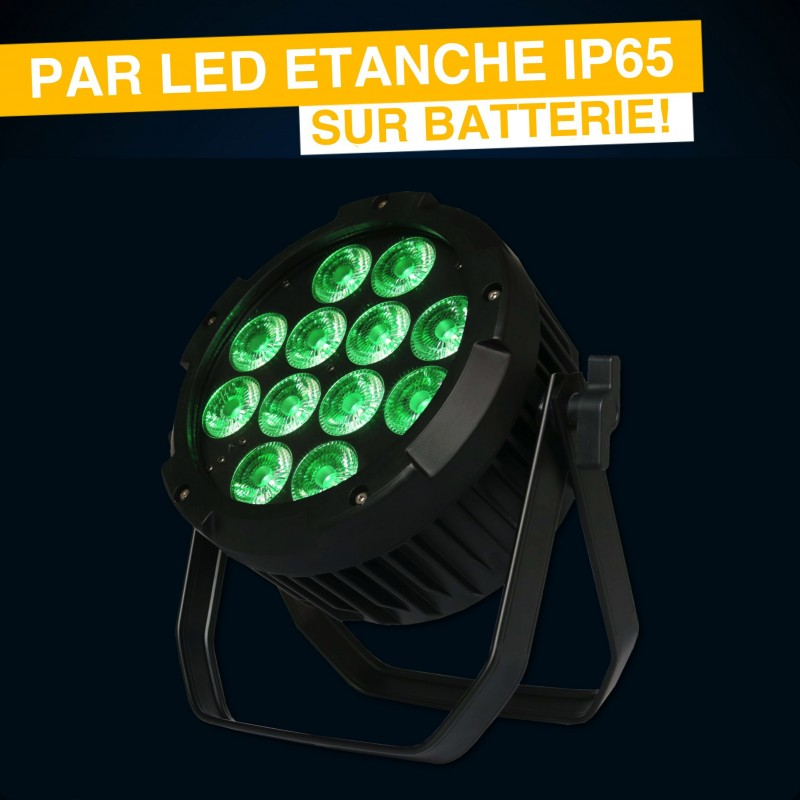 Location PAR led Etanche IP65 sur batterie