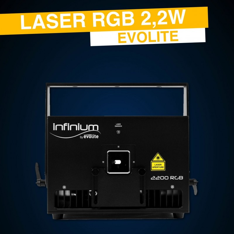 Location laser RGB 2W