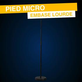 Pied Micro Droit Embase Lourde