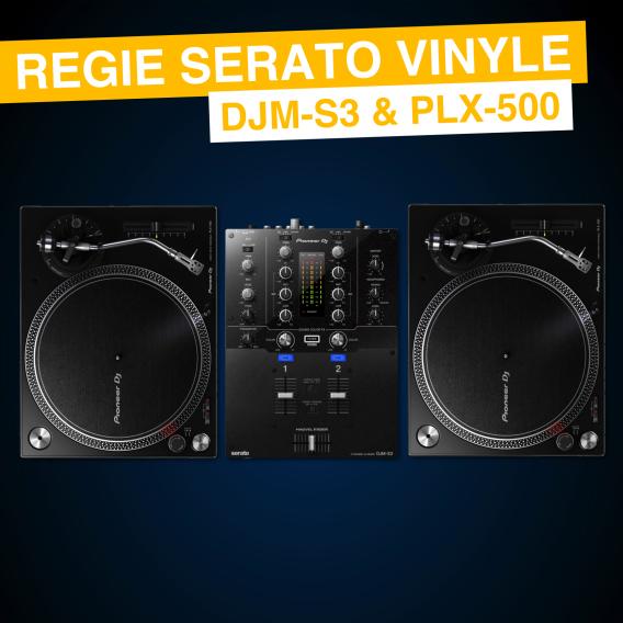 Location Régie Vinyle Serato - DJM S3 et PLX-500
