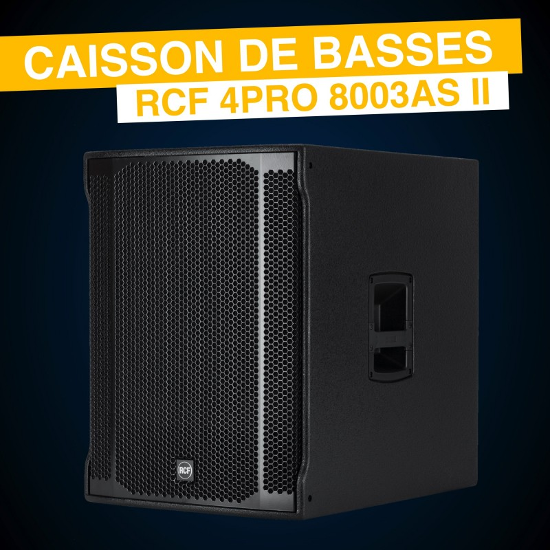"Location Caisson de Basses 18"" RCF 8003AS"