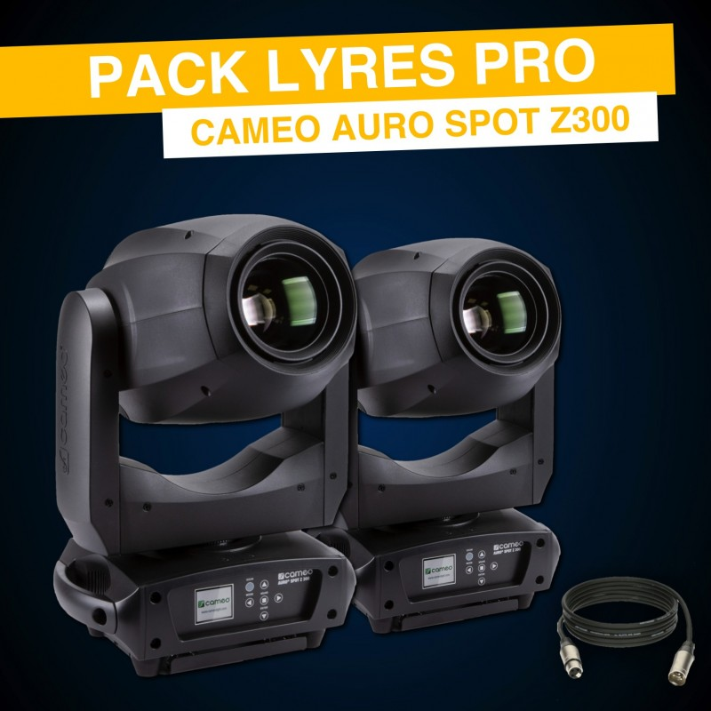 Pack Lyres Pro - Cameo Auro Spot Z300
